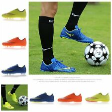 Kids Youth Men Soccer Cleats Shoes Ground Soccer Football Sports TF AG Trainers