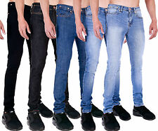 New Mens Branded Super Skinny Stretch Basic Denim Jeans
