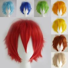 Unisex Short Anime Cosplay Costume Wigs Synthetic Fancy Dress Full Head Wigs