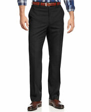 MICHAEL KORS men's DRESS PANTS Flat-Front Tailored SOLID BLACK size W36x30L nwt
