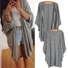 HOT Fashion Women's Batwing Poncho Knit Cape Cardigan Coat Knitwear Sweater Nice