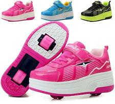 Girls Boys LED Light Shoes With Wheels Roller Skate Glow Heelys Kids Sneakers