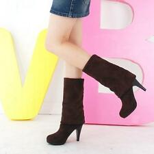 Nice Fashion Women's Fall Winter High-heeled Over Knee Faux Suede Knight Boots
