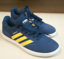 BRAND NEW  - OLDER BOYS ADIDAS BUSENITZ TRAINERS Navy Blue/Yellow SIZE 5.5