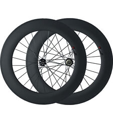 700C 88mm Clincher Disc Brake Carbon Wheels Road Bike Cyclocross Wheelset