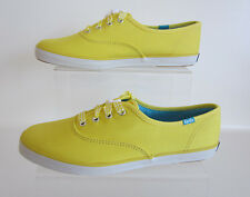 Keds Ladies CH OX Yellow WF49818 Flat Lace Up Canvas Shoes UK 2.5 - 6.5 (R41B)