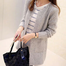 New Women Casual Long Sleeve Knitted Cardigan Sweaters Tricotado Cardigan AT