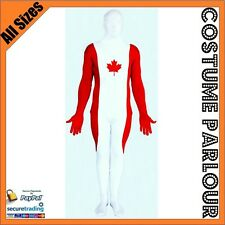 Canadian Flag Zentai Second Skin Canada Suit Fancy Dress Costume All Sizes