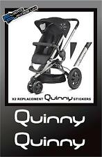 x2 QUINNY Pram Pushchair Replacement Chassi Vinyl Stickers Buzz Moodd Zapp Decal