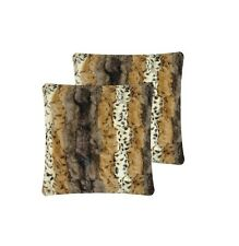 Anna Ricci Animal Pattern Faux Fur Throw Pillow Covers Square Shaped Set Of 2