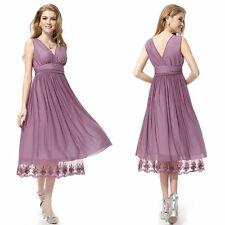 UK Formal Evening Prom Party Dress Bridesmaid Dresses Ball Gown Cocktail Size 6