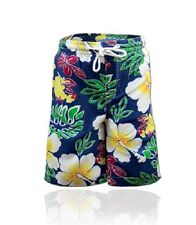 Toddlers Boys Floral Print Swim Shorts Flowery Holiday Swim Trunks Ages 1-8 Yrs