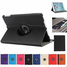 Wallet Smart Cover Case 360 Rotating For iPad Mini 1/2/3 in Black, Orange, White