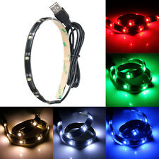 12 Led Flexible Strip Light Waterproof With USB Port Cable Home Lighting 5V