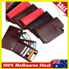 Quality Genuine Leather Id Purse Business Credit Card Pocket Slim Holder Wallet