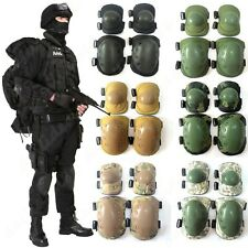 4x Tactical Military Skate Elbow + Knee Pads Combat Set Protective For Airsoft