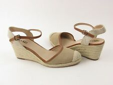 NEW Abound Natural Canvas Simone Slingback Espadrille Wedge Sandal