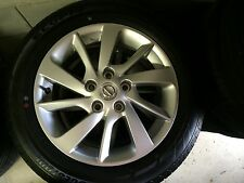 NEW SET OF NISSAN PULSAR FACTORY ALLOY WHEELS + BRIDGESTONE TYRES RRP $ 1990