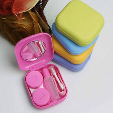 Mini Mirror Contact Lens Travel Kit Easy Carry Case Storage Holder Container Box