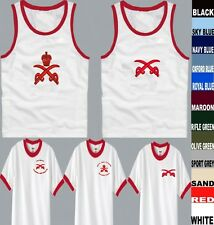 PTI  ROYAL ARMY PHYSICAL TRAINING INSTRUCTOR CORPS WHITE / RED VESTS / T SHIRT