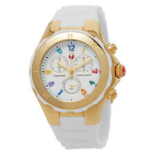 Michele Tahitian Jelly Bean Silicone Chronograph Ladies Watch MWW12F000043