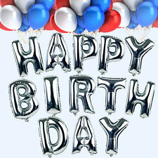 """HAPPY BIRTHDAY Foil Balloon Birthday Party Baby Decoration 13 Letters 16"""" 6Color"""