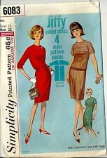 Simplicity Sewing Pattern 6083 1960's Casual Yoked One-Piece Dress Size 12 Uncut