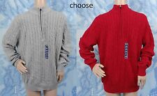 NWT IZOD jester red or gray heather 1/4 zip cable knit sweater,men's size M