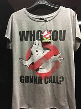 GHOSTBUSTERS MOVIE Primark Ladies Womens WHO YOU GONNA CALL T SHIRT TOP BNWT