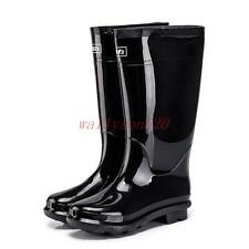 Mens Black Waterproof Rain Snow Rubber garden Boots Galoshes Wellies casual shoe
