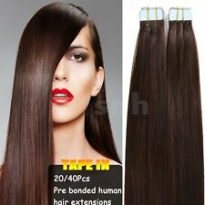HOT Tape In 20Pcs/50g Seamless Skin Weft Ture Remy Human Hair Extensions US I293