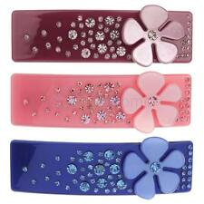 Fashion Flower Crystal Rhinestone Hair Barrette Hair clip Rectangular Headwear