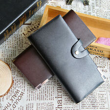 Men Leather Bifold Card Checkbook Holder Wallet Organizer Coin Purse Кошелек Bag
