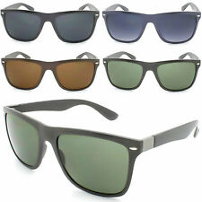 Quality Mens Hipster Flat Top Ray UV400 Wayfarer Style Frame Sunglasses Womens