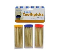 Travel Toothpick Containers With Toothpicks Ideal For Picnics Camping & Boxes
