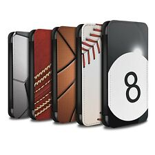 STUFF4 PU Leather Case/Cover/Wallet for Samsung Galaxy J3/Sports Balls
