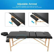 """2"""" Pad Massage Table Folding Adjustable Massage Table Chair Beauty Spa Bed L8A5"""