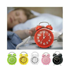 Twin Bell Retro Metal Alarm Clock Hammer Alarm Back Light
