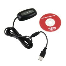 Black PC Wireless Controller Gaming Receiver For MICROSOFT XBOX 360