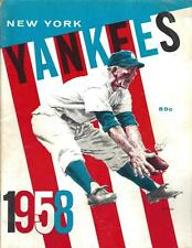 1958 New York Yankees Yearbook Mickey Mantle Yogi Berra Whitey Ford - EX+