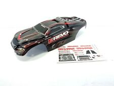 NEW TRAXXAS 1/10 E-REVO PAINTED BLUE BLACK BODY SHELL WITH DECAL SHEET BRUSHLESS