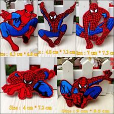10pcs/set Cartoon Spiderman Embroidered Iron/Sew On Patches/Badge Applique Motif