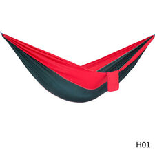 Double Person Portable Parachute Nylon Hammock Swing Bed Strong Ropes