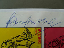 Bobby Moore hand signed autograph on Dhufar franked 1982 World Cup stamp page