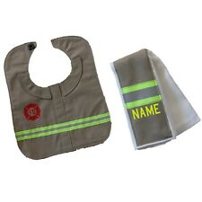 Firefighter Baby Burp Rag and Bib Made to Look Like Turnout Bunker Gear Personal
