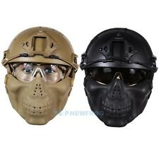 Airsoft Paintball Tactical Military Combat Helmet+Skull Mask+ Goggle For CS Game