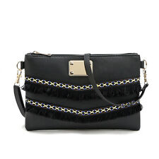 Women Messenger Tassel Crossbody Bag Shoulder Purse Handbags Clutch Tote Hot