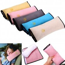 Kids Car Safety Seat Belt Strap Cover Harness Pillow Shoulder Pad Head Cushion