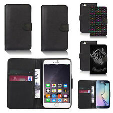 pu leather wallet case cover for apple iphone models design ref q52