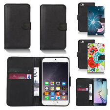 pu leather wallet case cover for apple iphone models design ref q46